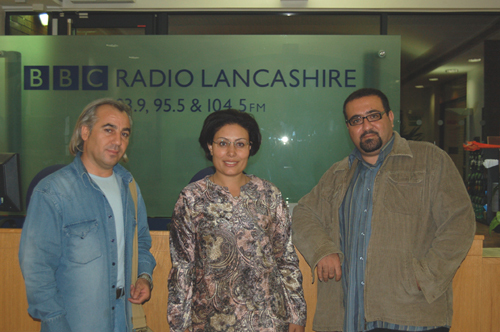 Authors at the BBC Lancashire Radio station