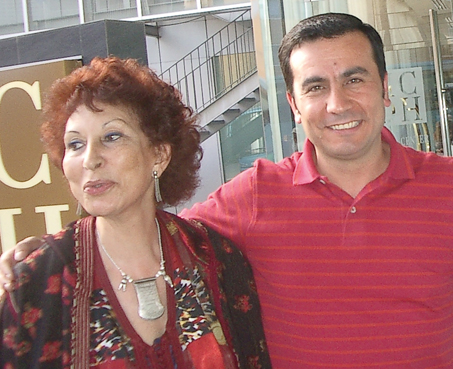 Fatema Mernissi and Khaled Hroub in Granada, 2006.