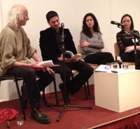 l to r: Stephen Watts, Marwan Makhoul, Asma'a Azaizeh, Agnes Reeve