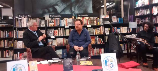 Paul Blezard, Sinan Antoon and Khyam Allami at Waterstones Piccadilly
