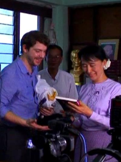Ramsey Nasr after interviewing Aung San Sun Kyi