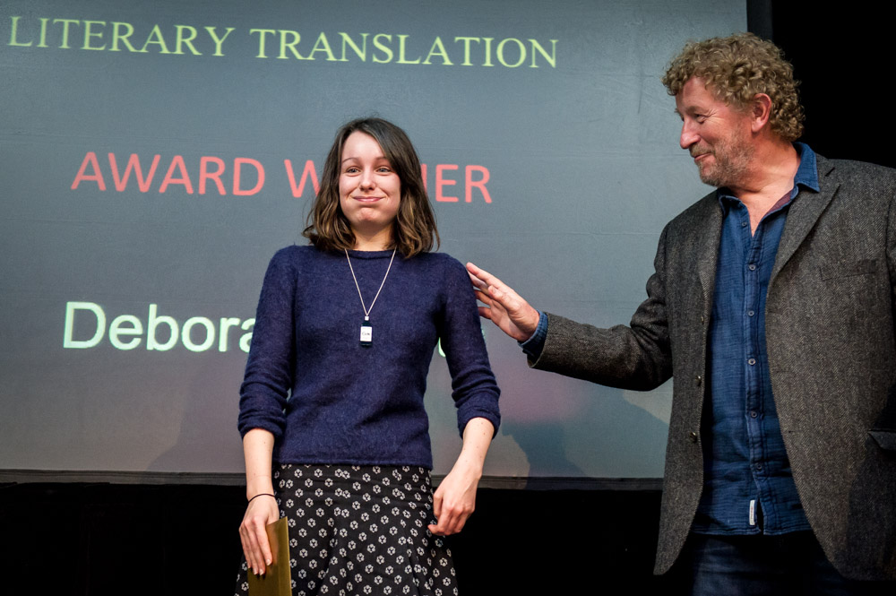 Deborah Smith and Sebastian Faulks at the Award Ceremony