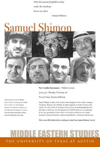 Samuel Shimon poster for Lecture 28 February