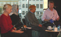 Greg Mosse chairs Poetry International event with Fadhil al-Azzawi and Nujoom al-Ghanem