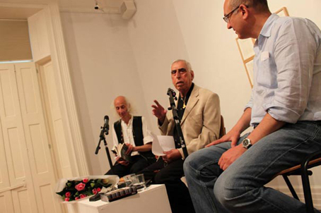 Photo of Saadi Youssef at poetry launch